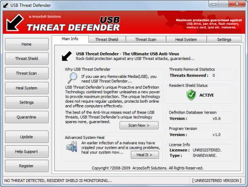 برنامج USB Threat Defender