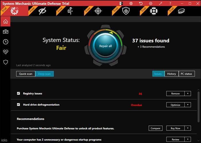 برنامج iolo System Mechanic Ultimate Defense