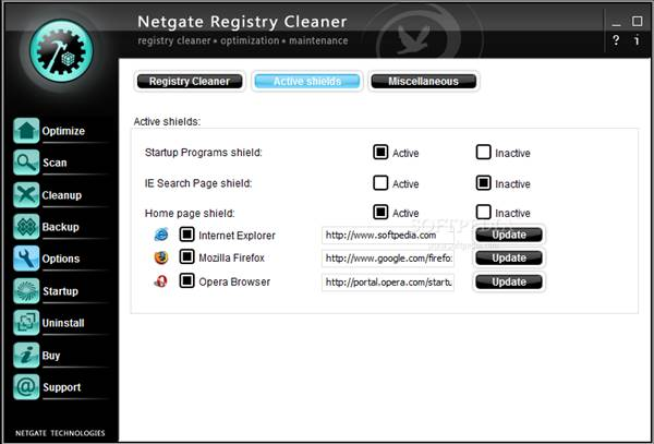 برنامج NETGATE Registry Cleaner